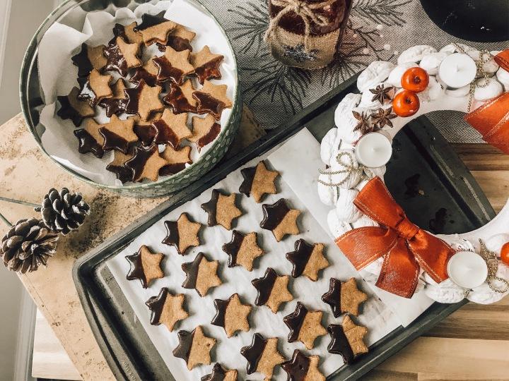 Vánoční mandlové polomáčenéhvězdičky